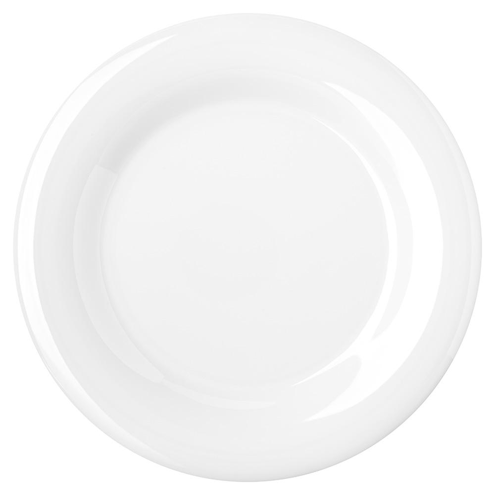 """Carlisle 4301002 10-1/2"""" Durus Dinner Plate - Wide Rim, Melamine, White"""