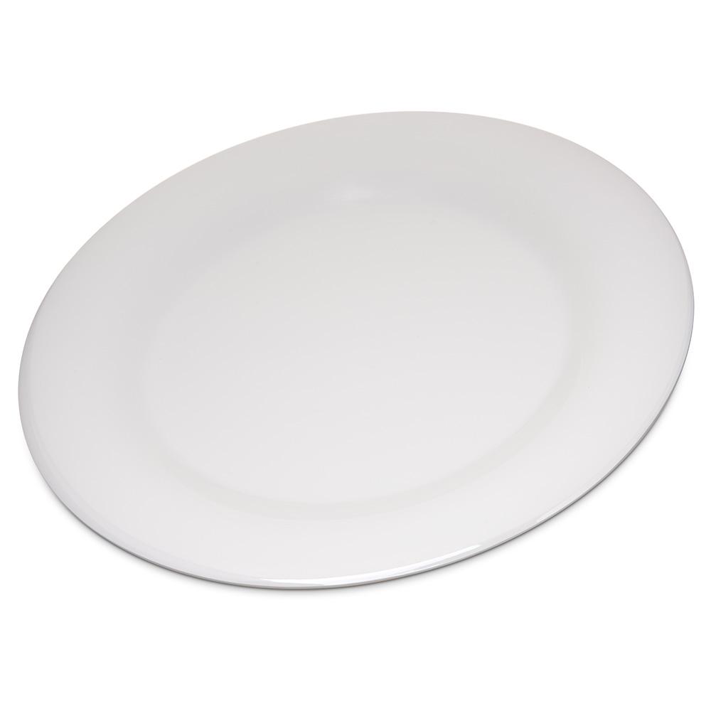 "Carlisle 4301042 10.5"" Round Dinner Plate w/ Wide Rim, Melamine, Bone"