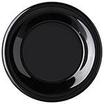 "Carlisle 4301203 9"" Round Dinner Plate w/ Wide Rim, Melamine, Black"