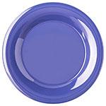"Carlisle 4301214 9"" Durus Dinner Plate - Wide Rim, Melamine, Ocean Blue"