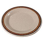 "Carlisle 43013908 9"" Durus Dinner Plate - Wide Rim, Melamine, Sierra Sand on Sand"