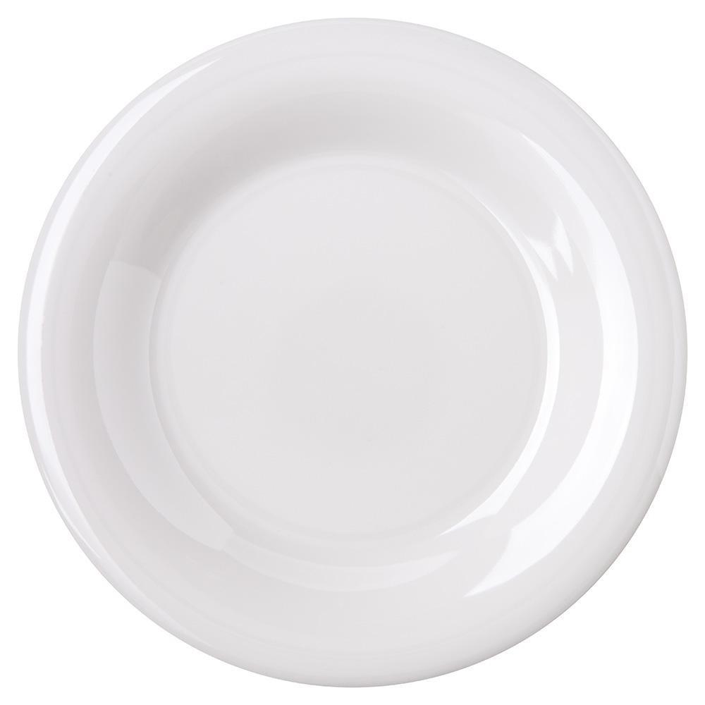 "Carlisle 4301802 6-1/2"" Durus Pie Plate - Wide Rim, Melamine, White"