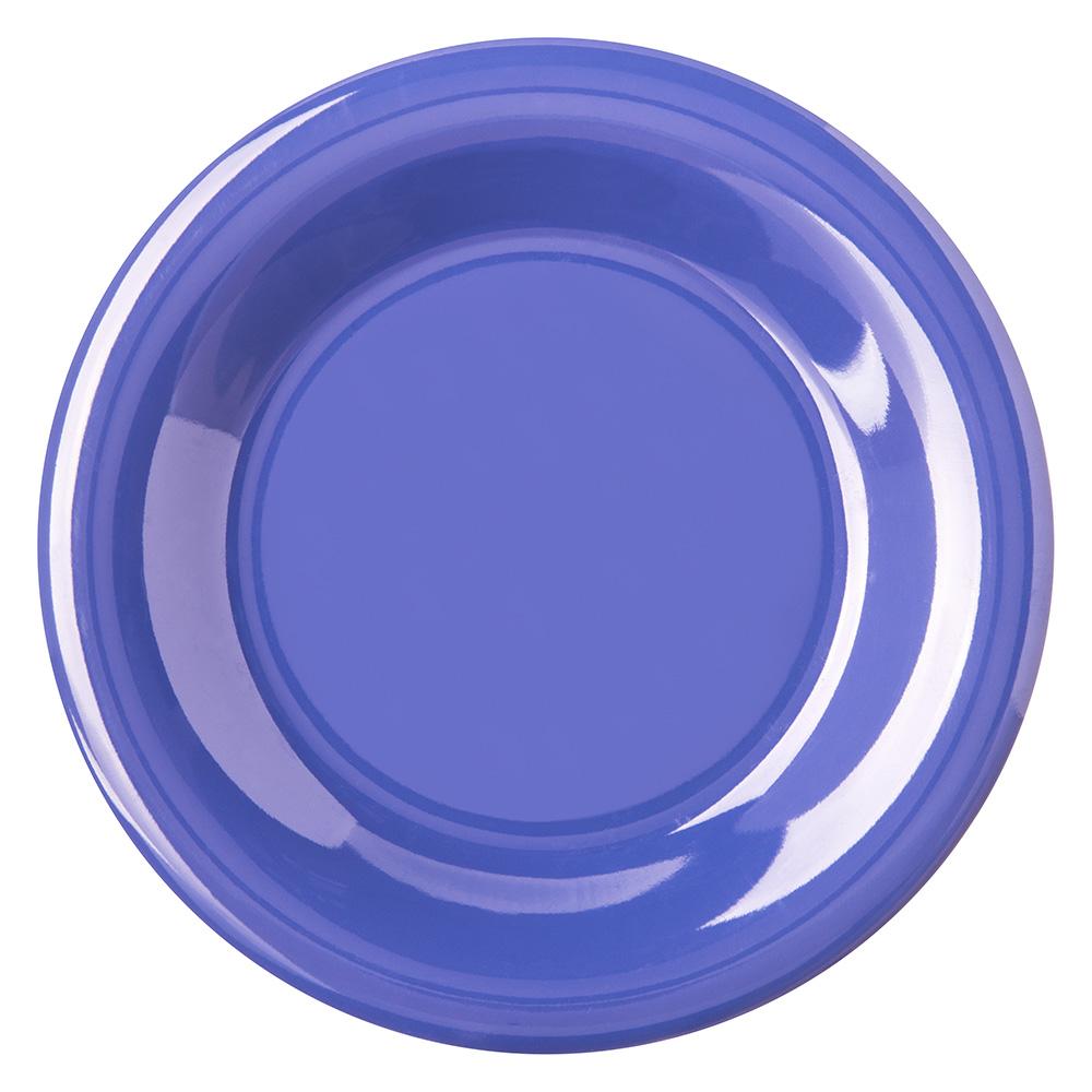 "Carlisle 4301814 6.5"" Round Pie Plate w/ Wide Rim, Melamine, Ocean Blue"