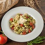 "Carlisle 4303002 12"" Round Chef Salad/Pasta Bowl w/ 20-oz Capacity, Melamine, White"