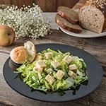"Carlisle 4303003 12"" Round Chef Salad/Pasta Bowl w/ 20-oz Capacity, Melamine, Black"