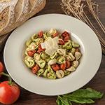 "Carlisle 4303042 12"" Round Chef Salad/Pasta Bowl w/ 20-oz Capacity, Melamine, Bone"