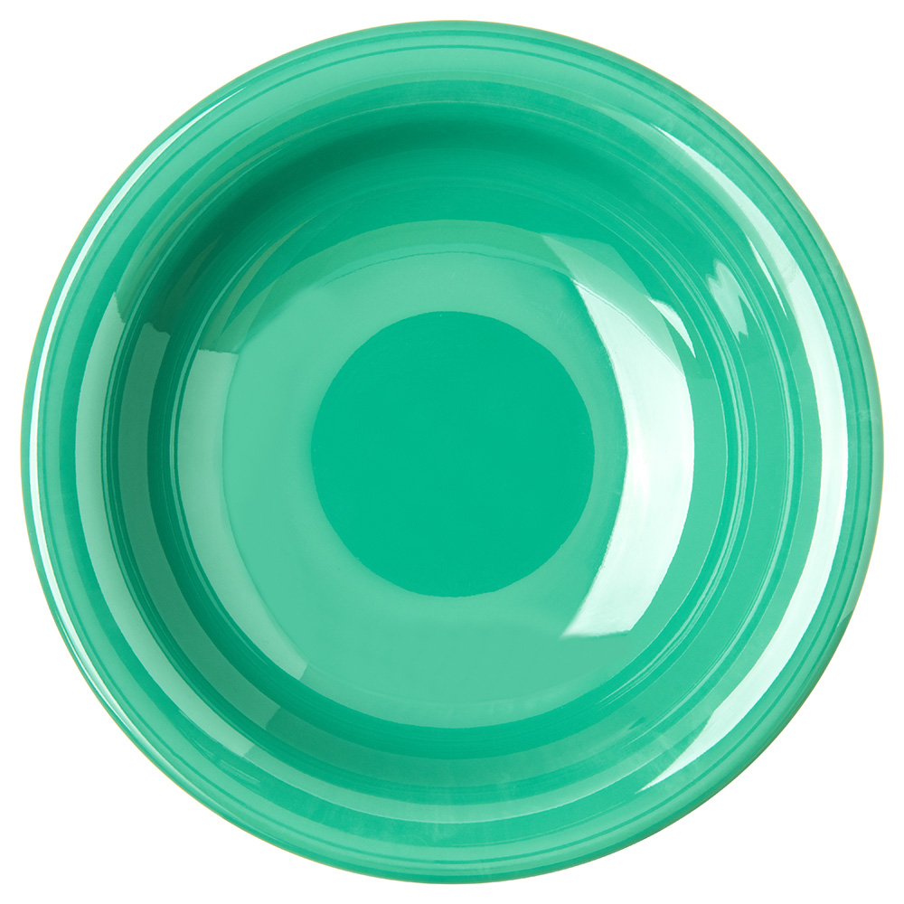 "Carlisle 4303209 7.5"" Round Rim Soup Bowl w/ 16-oz Capacity, Melamine, Meadow Green"
