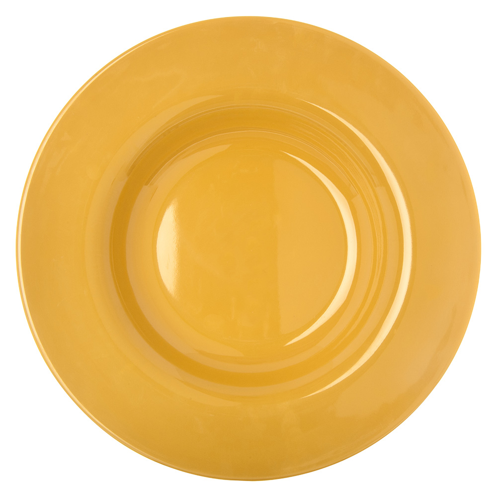 "Carlisle 4303422 9.25"" Round Pasta/Soup/Salad Bowl w/ 13-oz Capacity, Melamine, Honey Yellow"