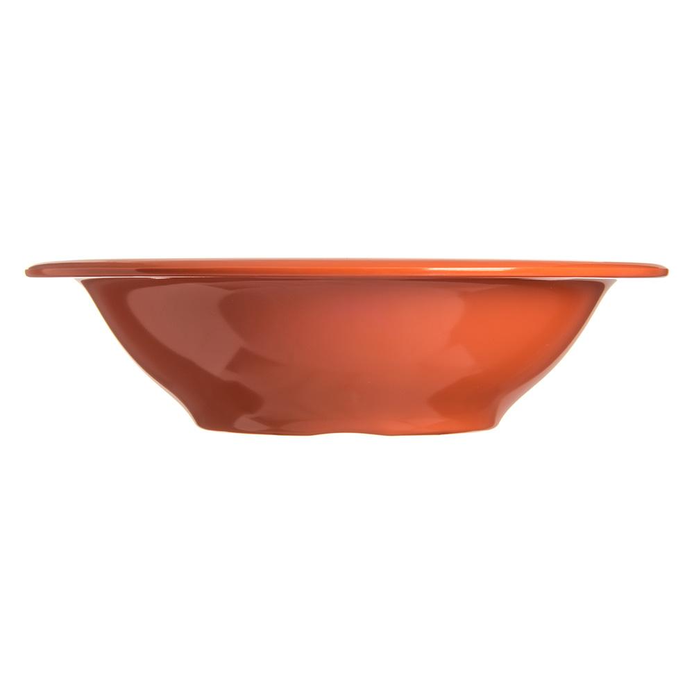 """Carlisle 4303652 7.25"""" Round Rim Soup Bowl w/ 12-oz Capacity, Melamine, Sunset Orange"""