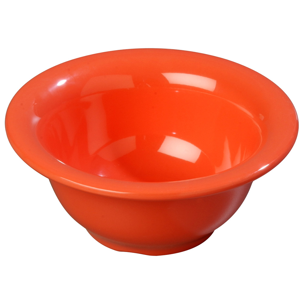 "Carlisle 4303852 5.325"" Round Nappie Bowl w/ 10-oz Capacity, Melamine, Sunset Orange"