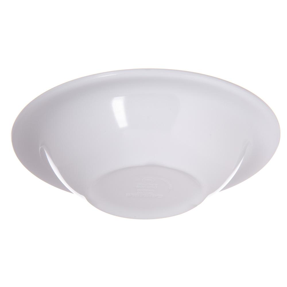 "Carlisle 4304002 6"" Round Rim Soup Bowl w/ 6-oz Capacity, Melamine, White"