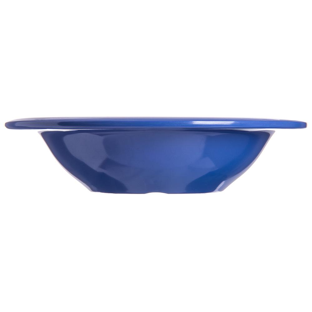 "Carlisle 4304014 6"" Round Rim Soup Bowl w/ 6-oz Capacity, Melamine, Ocean Blue"