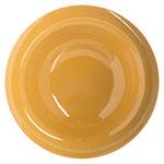 "Carlisle 4304022 6"" Round Rim Soup Bowl w/ 6-oz Capacity, Melamine, Honey Yellow"