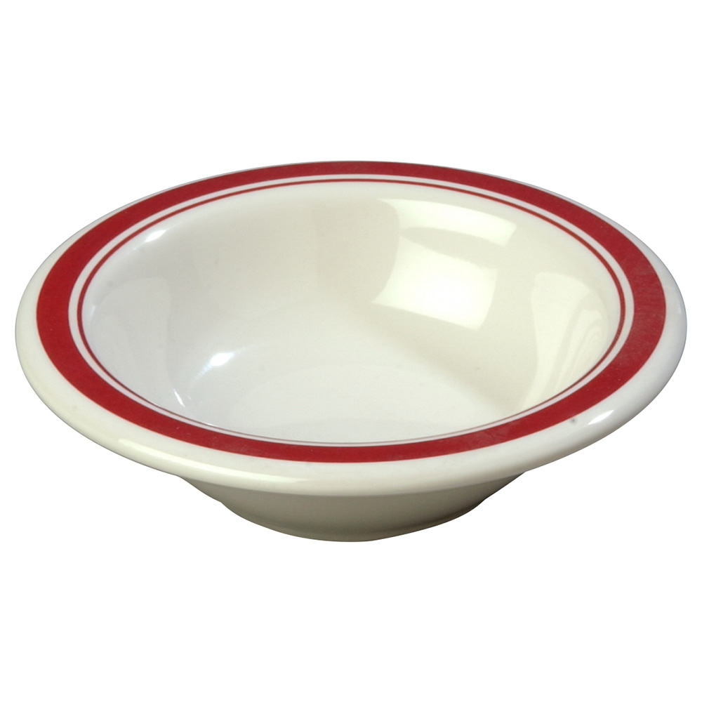 Carlisle 43043907 4-1/2-oz Durus Fruit Bowl - Melamine, Roma on Bone