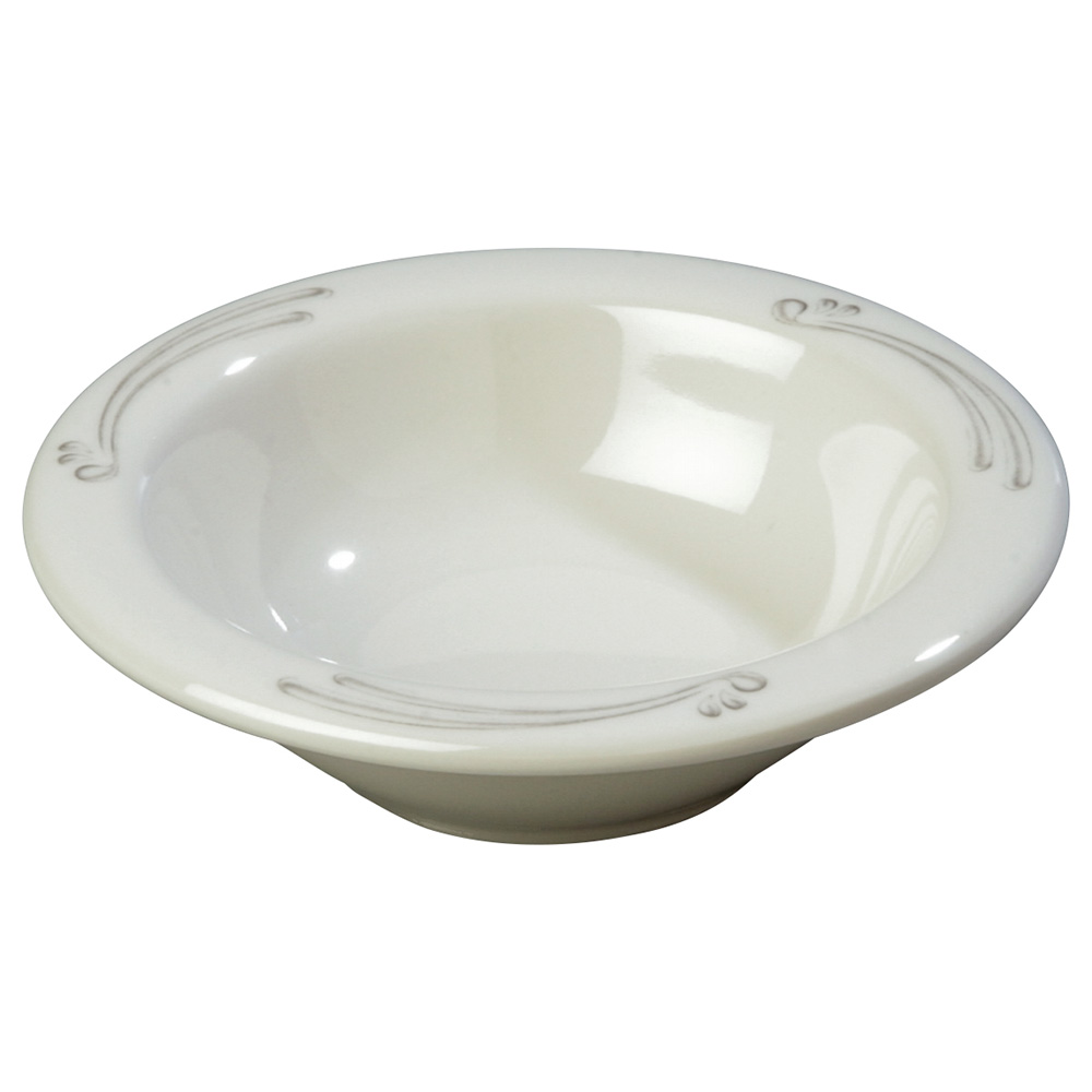 "Carlisle 43043909 4.75"" Round Fruit Bowl w/ 4.5-oz Capacity, Melamine, Versailles on Bone"