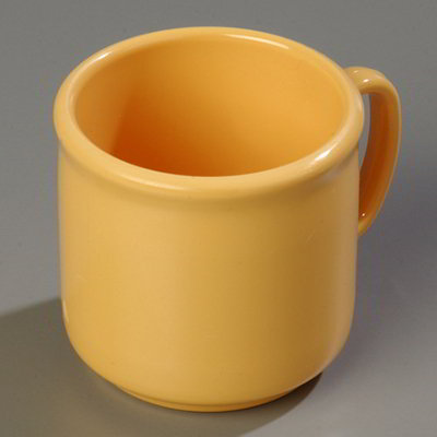 Carlisle 4305222 10-oz Stackable Mug - Honey Yellow