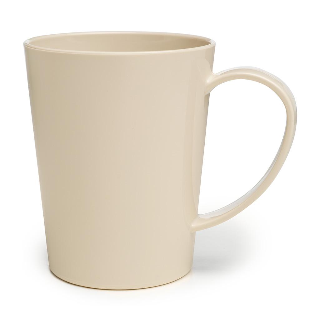 Carlisle 4306842 12-oz Nestable Mug - Plastic, Bone