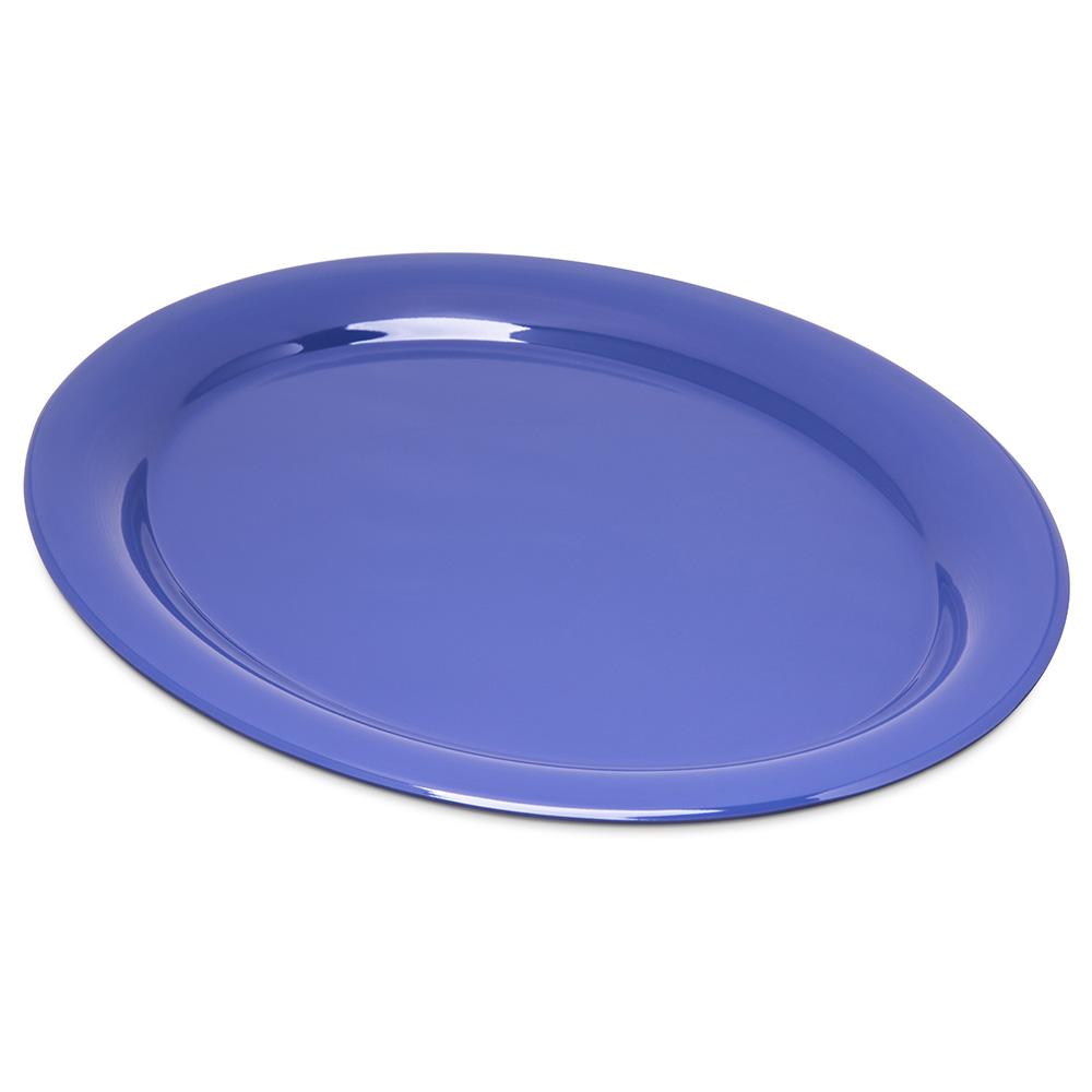 "Carlisle 4308014 Durus Oval Platter - 13-1/2x10-1/2"" Melamine, Ocean Blue"