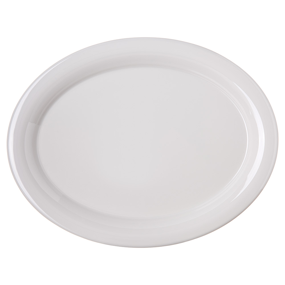 "Carlisle 4308042 Oval Platter - 13.5"" x 10.5"", Melamine, Bone"