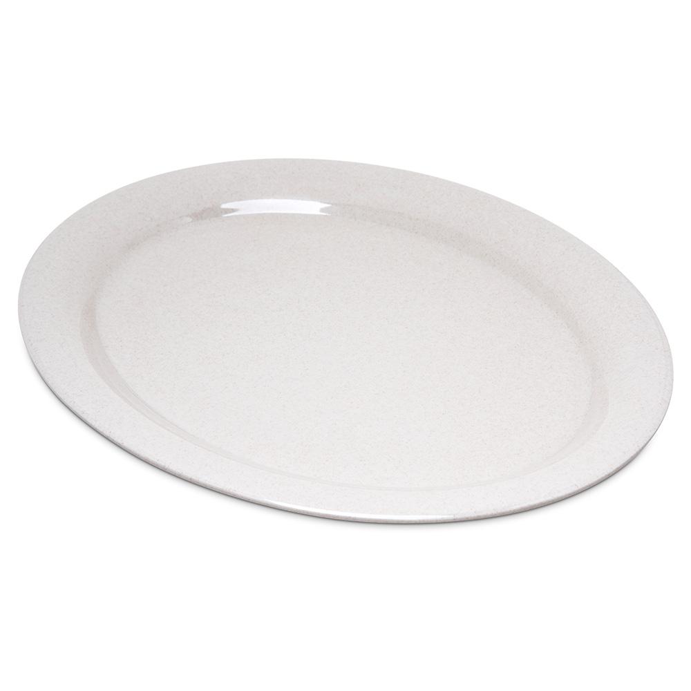 "Carlisle 4308071 Oval Platter - 13.5"" x 10.5"", Melamine, Sand"