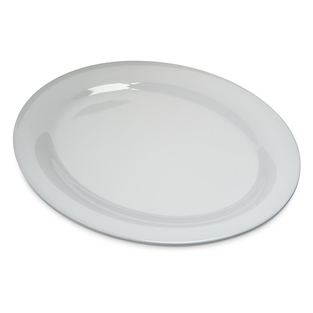 "Carlisle 4308202 Durus Oval Platter - 12x9-1/4"" Melamine, White"