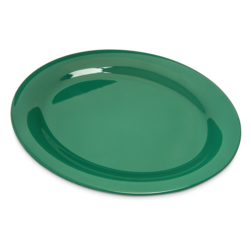 "Carlisle 4308209 Durus Oval Platter - 12x9-1/4"" Melamine, Meadow Green"