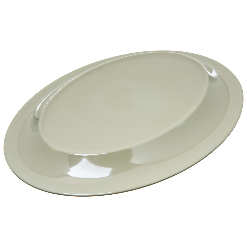 "Carlisle 4308216 Oval Platter - 12"" x 9.25"", Melamine, Firenze Green"