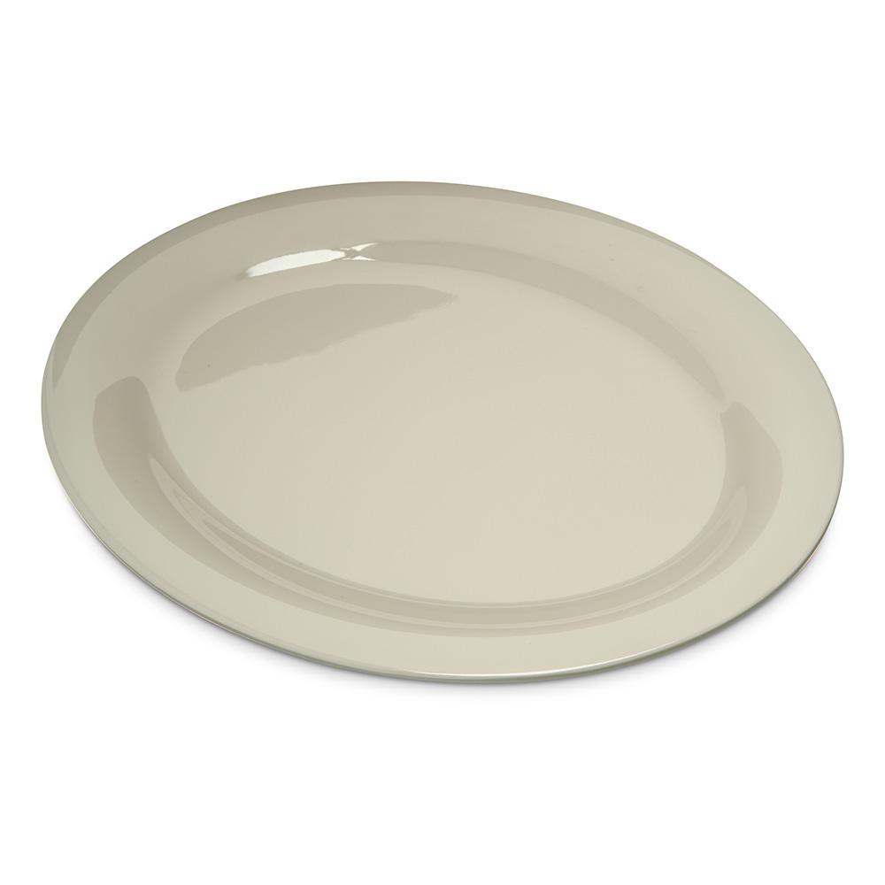 "Carlisle 4308242 Durus Oval Platter - 12x9-1/4"" Melamine, Bone"