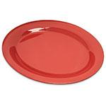 "Carlisle 4308252 Oval Platter - 12"" x 9.25"", Melamine, Sunset Orange"
