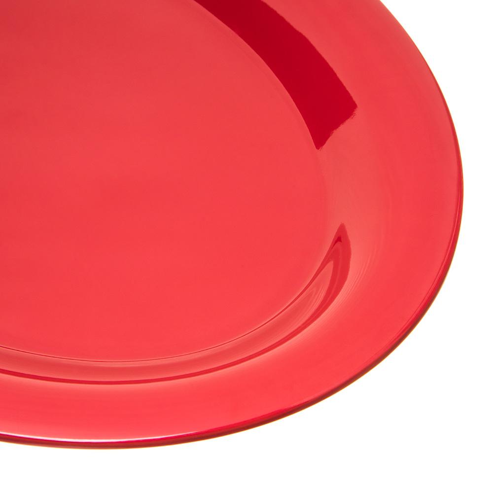 "Carlisle 4308258 Oval Platter - 12"" x 9.25"", Melamine, Roma Red"