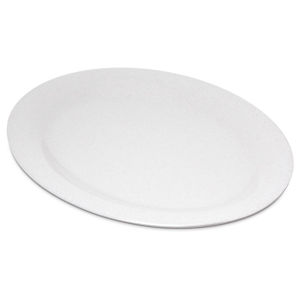 "Carlisle 4308271 Oval Platter - 12"" x 9.25"", Melamine, Sand"