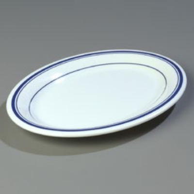 "Carlisle 43083903 Durus Oval Platter - 12x9-1/4"" Melamine, Morocco on Bone"