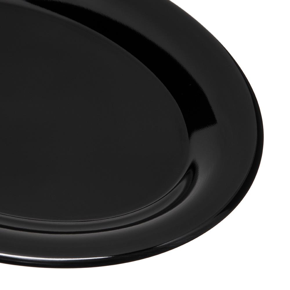 """Carlisle 4308603 Oval Platter - 9.5"""" x 7.25"""", Melamine, White"""