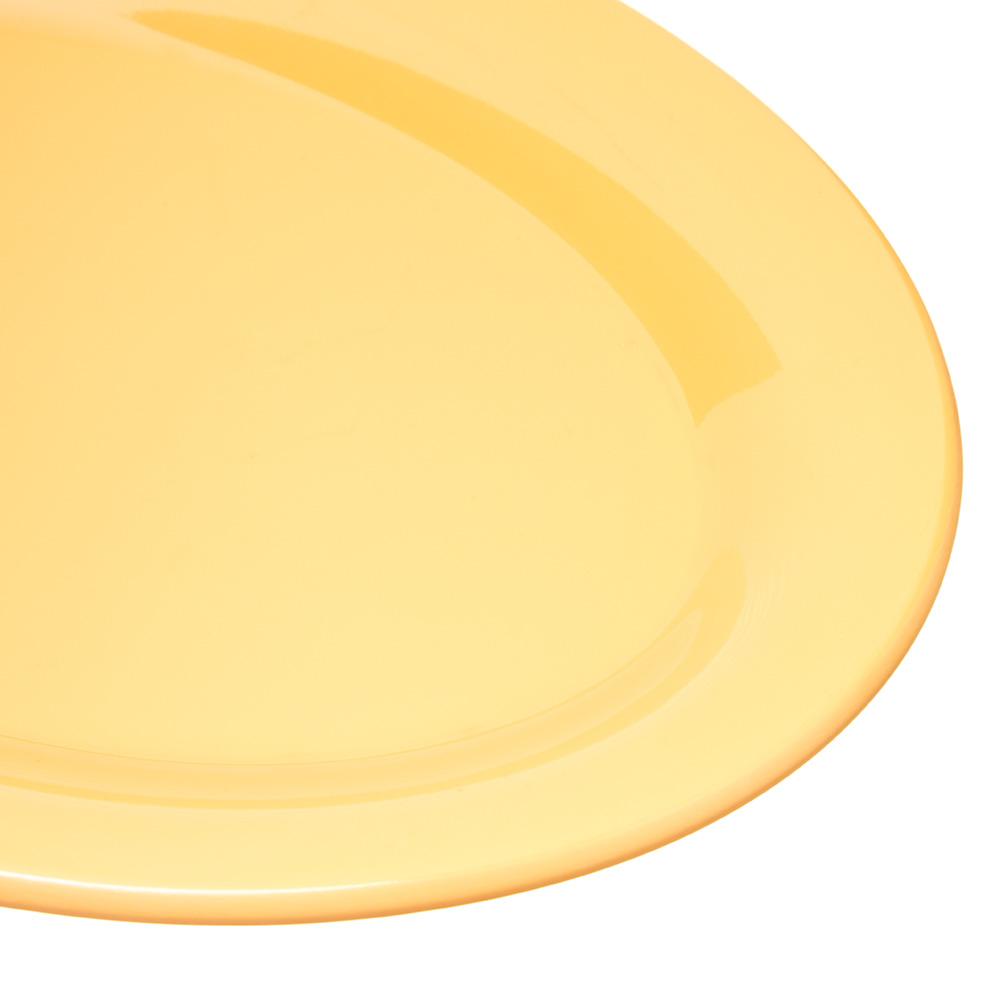 "Carlisle 4308622 Oval Platter - 9.5"" x 7.25"", Melamine, Honey Yellow"