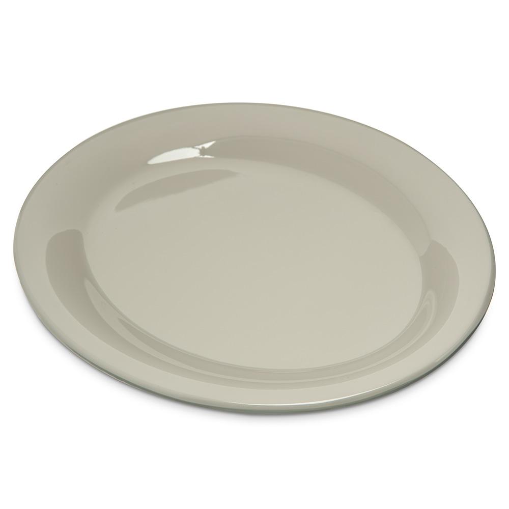 "Carlisle 4308642 Durus Oval Platter - 9-1/2x7-1/4"" Melamine, Bone"
