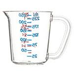 Carlisle 4314107 8-oz Oval Measuring Cup w/ Pour Spout & C-Handle, Polycarbonate, Clear
