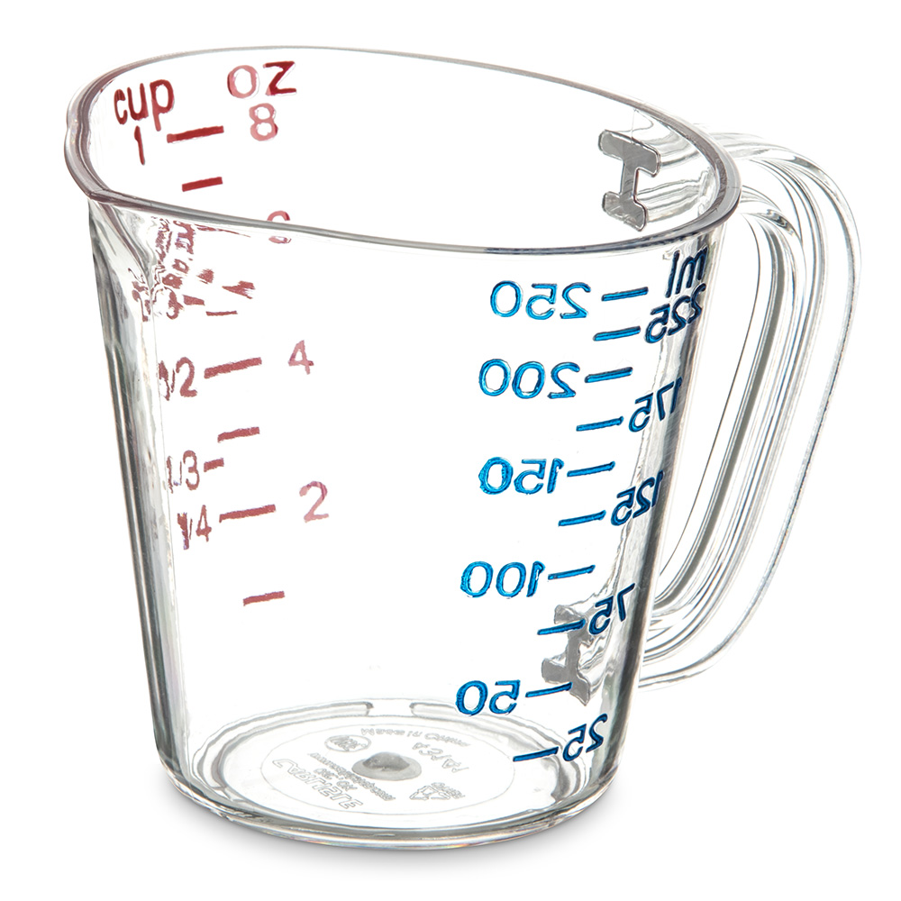 Carlisle 4314107 8-oz Oval Measuring Cup w/ Pour Spout & ...