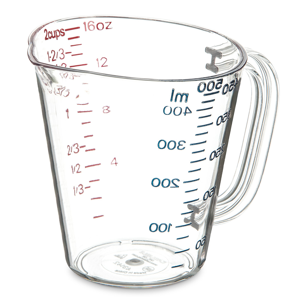 Carlisle 4314207 16-oz (1-pint) Oval Measuring Cup - Clear