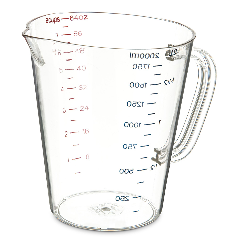 Carlisle 4314407 64-oz Oval Measuring Cup w/ Pour Spout &...