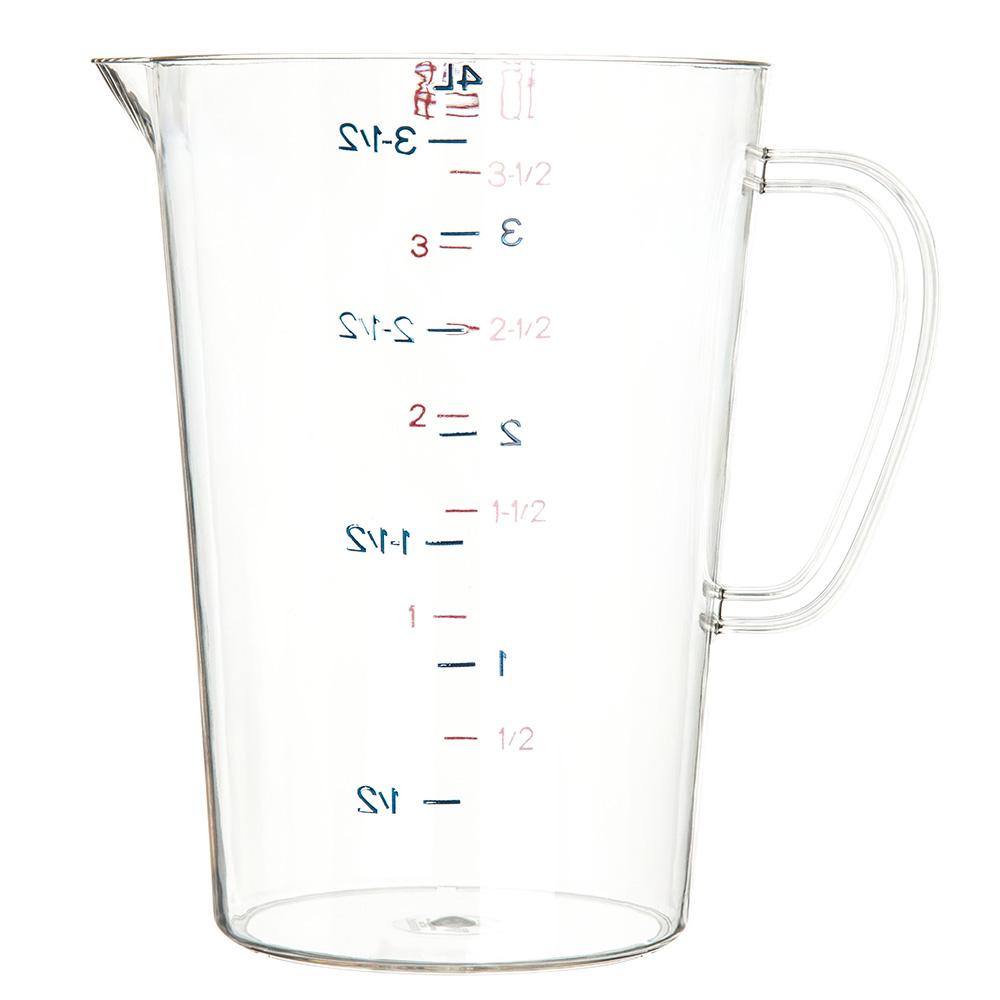 Carlisle 4314507 128-oz Oval Measuring Cup w/ Pour Spout & C-Handle, Polycarbonate, Clear