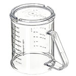 Carlisle 431507 8-oz Oval Measuring Cup w/ 7-Style Handle, Polycarbonate, Clear
