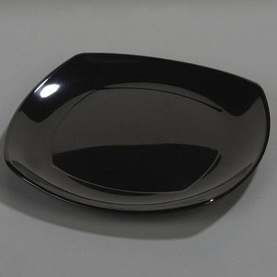 Carlisle 4330203 Square 13.5 x 13.5-in Melamine Plate, Black