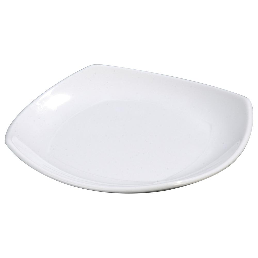 "Carlisle 4330602 9.5"" Square Dinner Plate w/ Rolled Edge, Melamine, White"