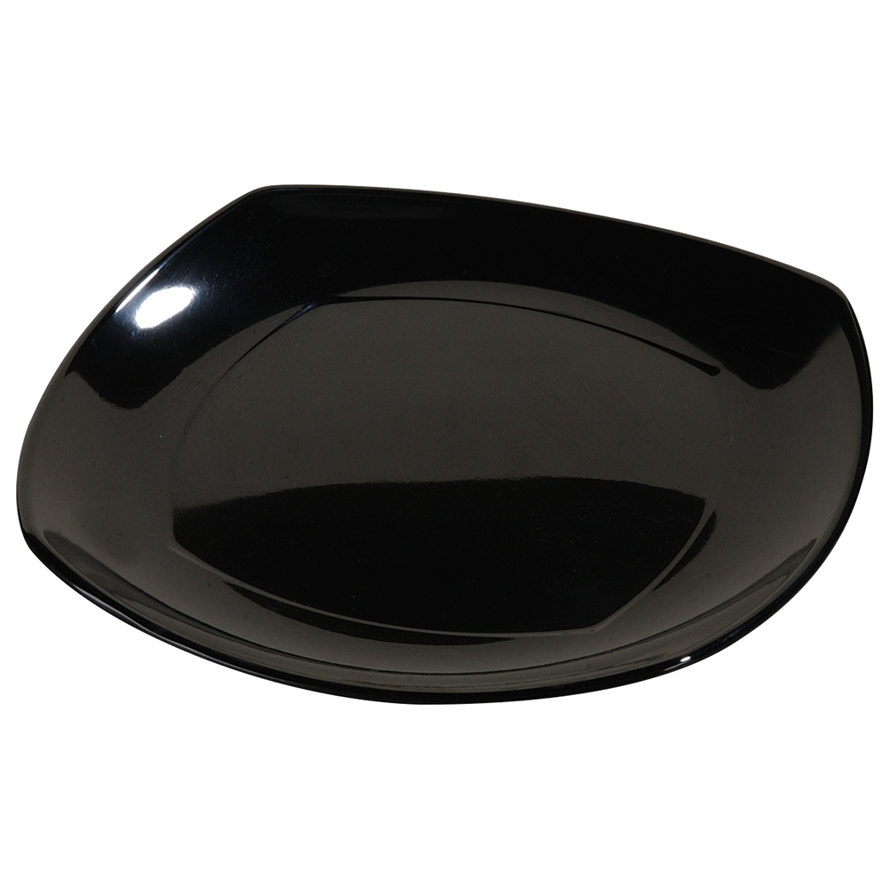 "Carlisle 4330803 8"" Square Dinner Plate - Melamine, Black"