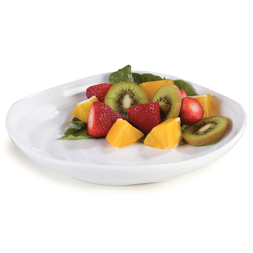 """Carlisle 4341002 9"""" Terrra Square Dinner Plate - Melamine, White"""