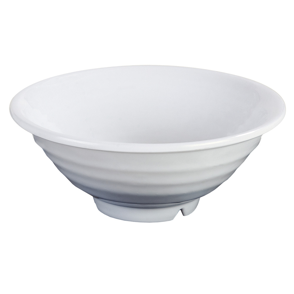 "Carlisle 4342202 8.5"" Footed Bowl w/ 40-oz Capacity & Rolled Edge, Melamine, White"