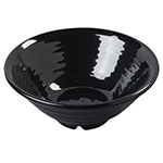 "Carlisle 4342203 8.5"" Footed Bowl w/ 40-oz Capacity & Rolled Edge, Melamine, Black"