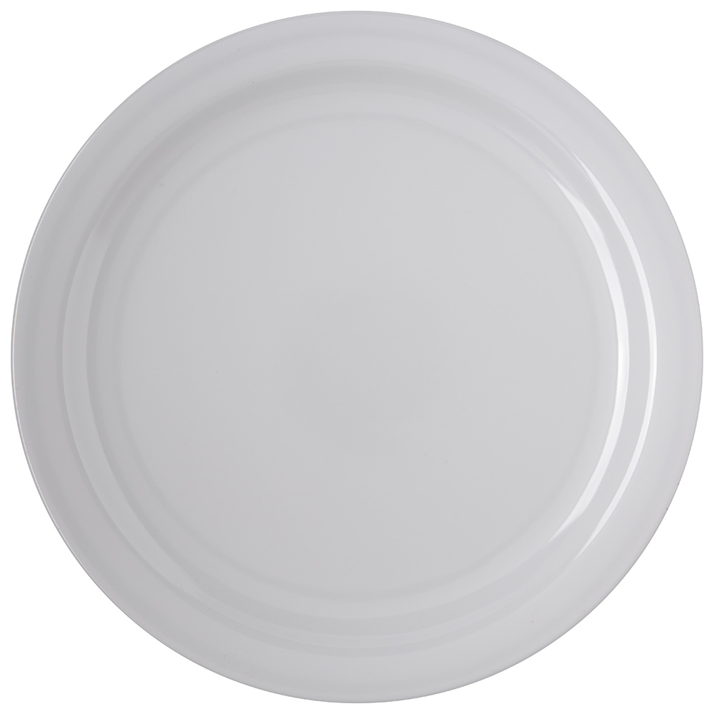 "Carlisle 4350002 10-1/4"" Dallas Ware Dinner Plate - Melamine, White"