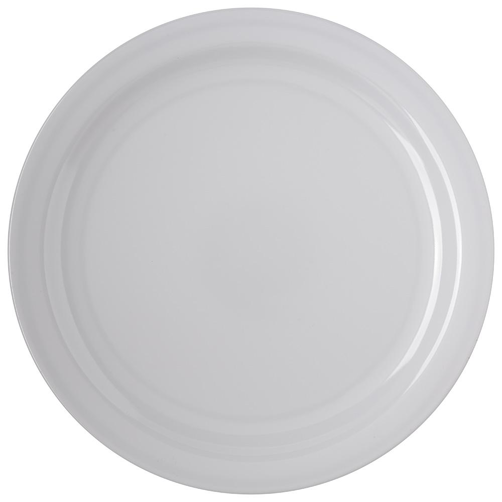 "Carlisle 4350002 10.25"" Round Dinner Plate w/ Reinforced Rim, Melamine, White"