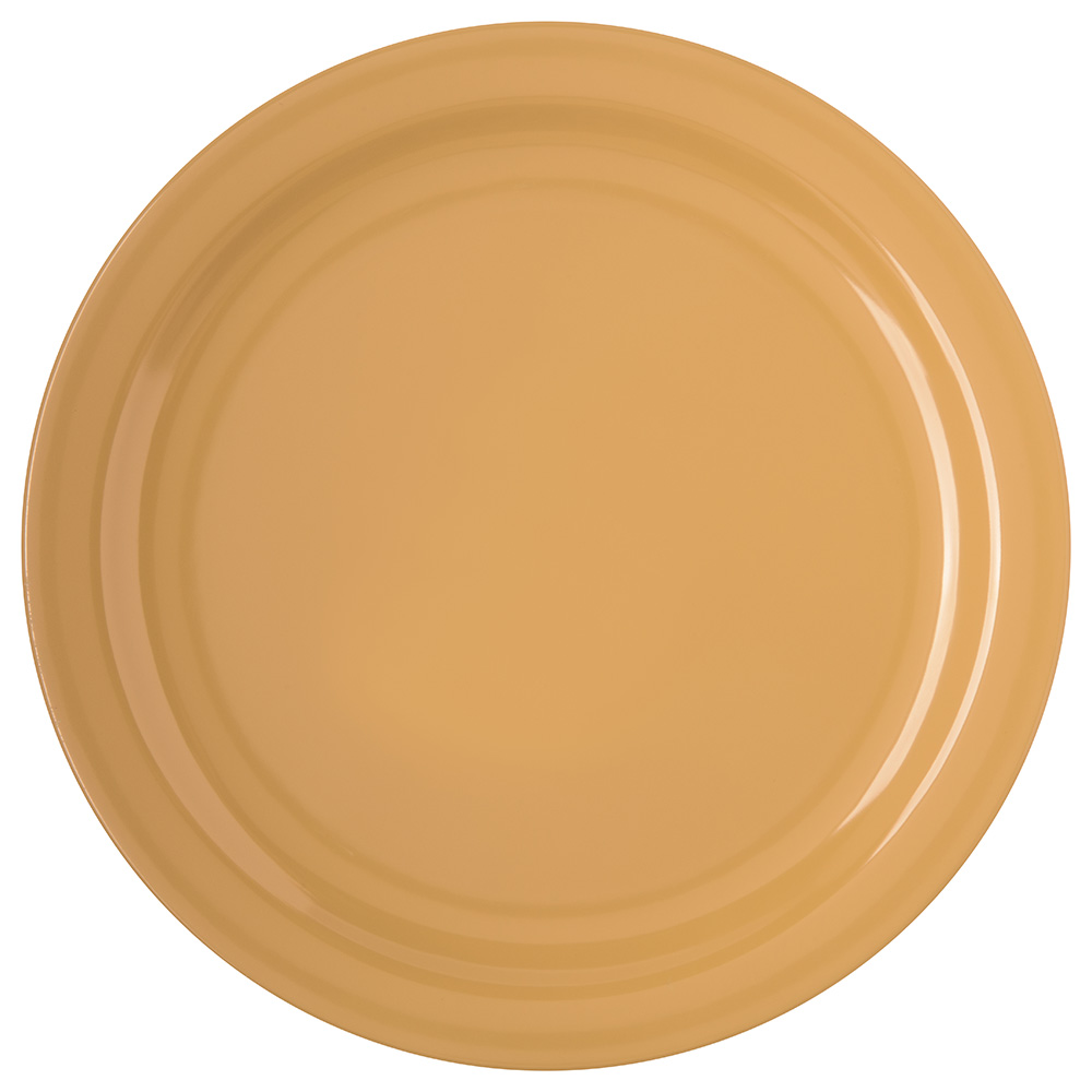 "Carlisle 4350022 10-1/4"" Dallas Ware Dinner Plate - Melamine, Honey Yellow"